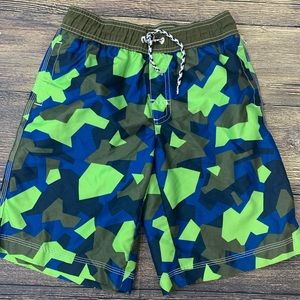 Gymboree swim trunks shorts boy size L 10-12
